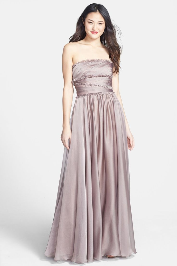 ML Monique Lhuillier Bridesmaids Strapless Chiffon Gown by ML Monique Lhuillier Bridesmaids on @nordstrom_rack $59.98