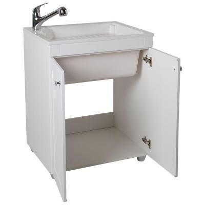 D Composite Laundry Sink, White