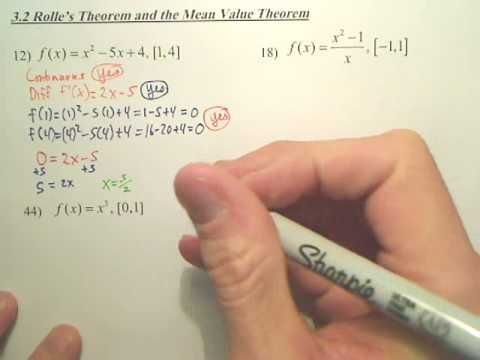 3.2a Rolles Theorem and the Mean Value Theorem - Calculus