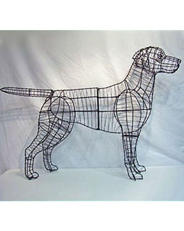 I'm getting one in BOXER dog! I don't care if it's tacky! Labrador Retriever Topiary Frame