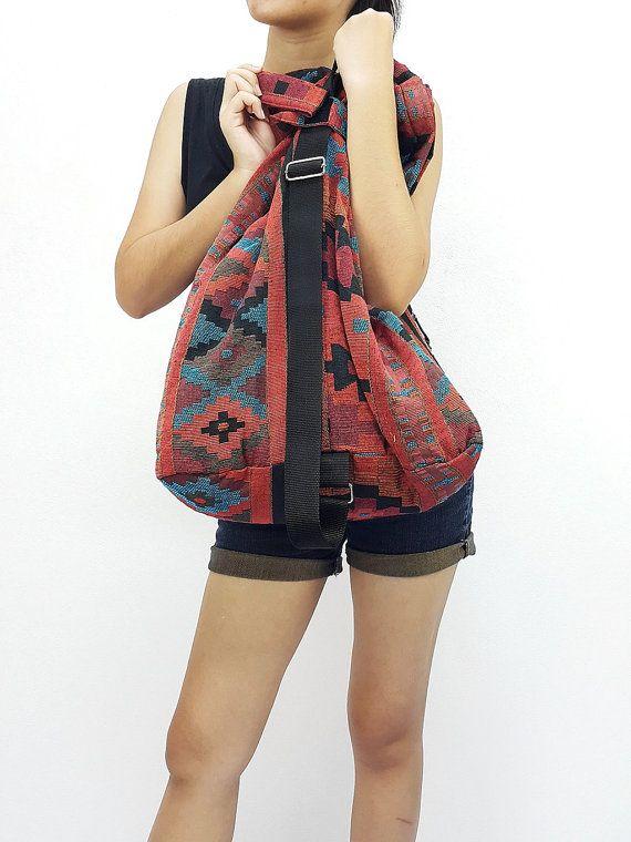 Woven Cotton Bag Single Strap Backpack Hippie Hobo Boho bag