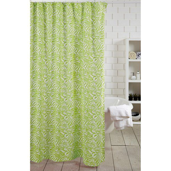 Zebra Stripe 100 Cotton Single Shower Curtain With Images
