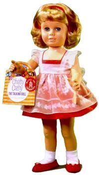 Chatty Cathy Doll. Mom said she had a real live one of these so we didn't need the doll. Haha