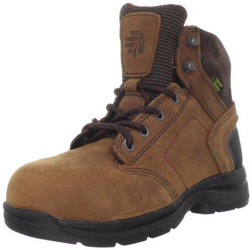 """LaCrosse Women's Redwood 5 Inch AT Work Safety Toe Boot LaCrosse. $109.95. leather. Nubuc leather upper. Abrasion resistant heel wrap. Heel measures approximately 1.5"""". 100% waterproof Dry-Core lining. Shaft measures approximately 5"""" from arch. Rubber sole"""