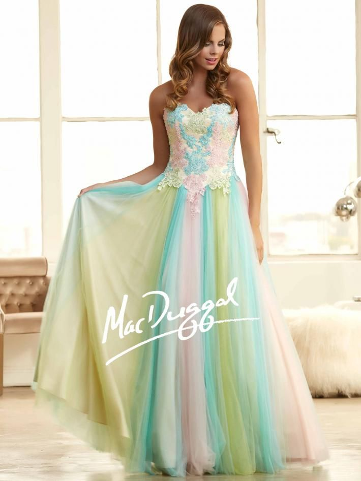 Senior Pastel Color Prom Dresses 2015