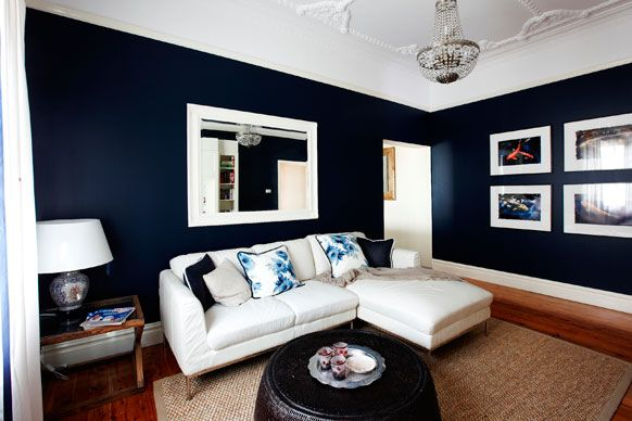 1000 ideas about dark blue kitchens on pinterest top for Living room navy walls