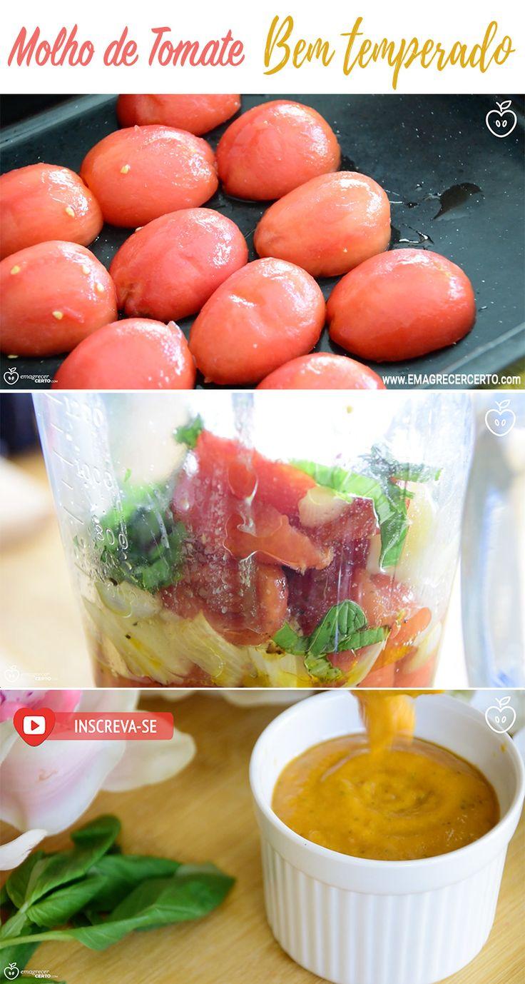 molho de tomate natural temperado blog emagrecer certo