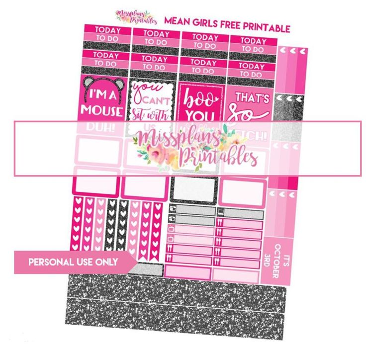 Mean Girls Planner Stickers