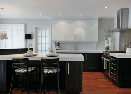 diseo de cocinas cocinas modernas en color negro en linea cocinas madrid