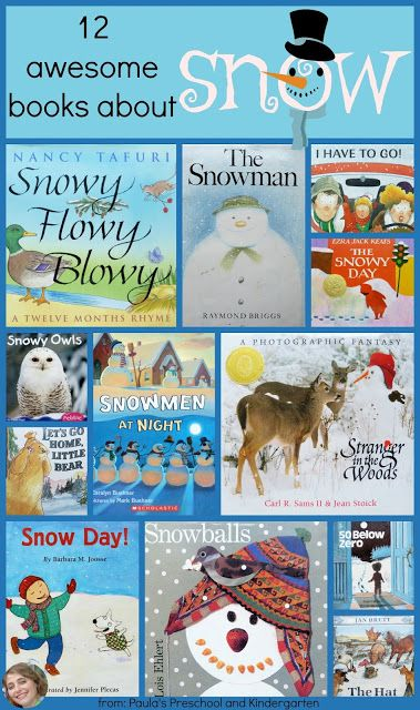 Paula's Preschool and Kindergarten: 12 awesome books about snow!