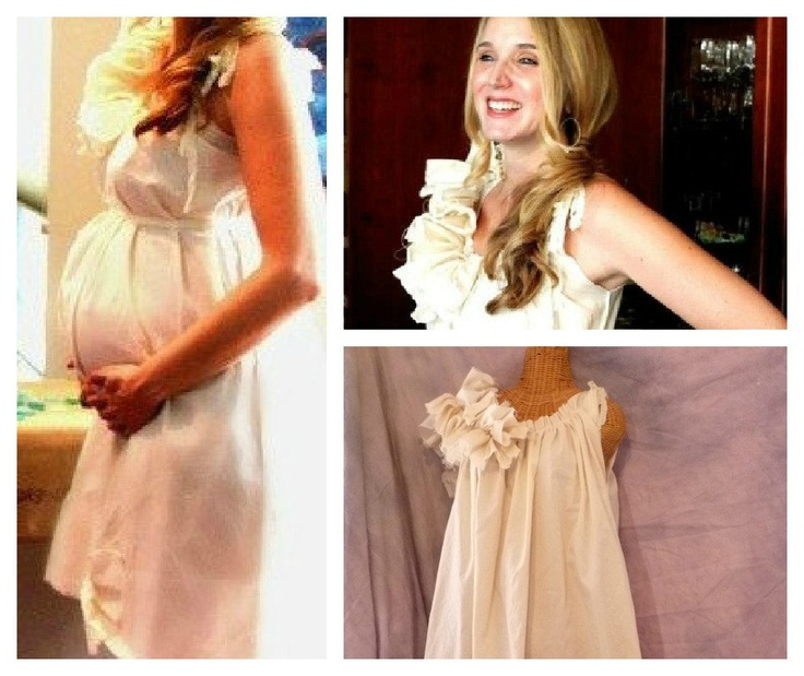baby shower dress maternity ruffled below knees patisserie tall handm