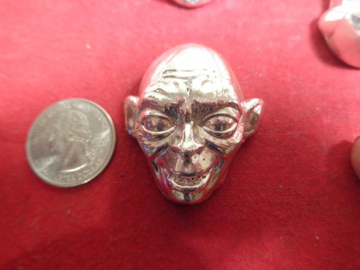 Item specifics     Shape:   hand poured ingot   Precious Metal Content:   .999 fine silver      4.3 Troy ounce .999 fine silver. Hand poured Gollum design ingot   MFS  Price : 105.00  Ends on : 4 weeks  View on eBay  Post ID is...