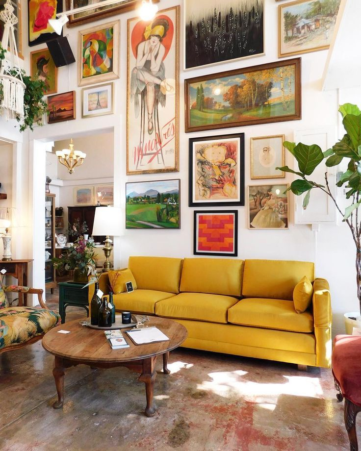 Mustard Couch Gallery Wall Couch Couches Mustard Yellow Goldenrod Buy Home Furniture Small Living Room Decor Retro Home Decor