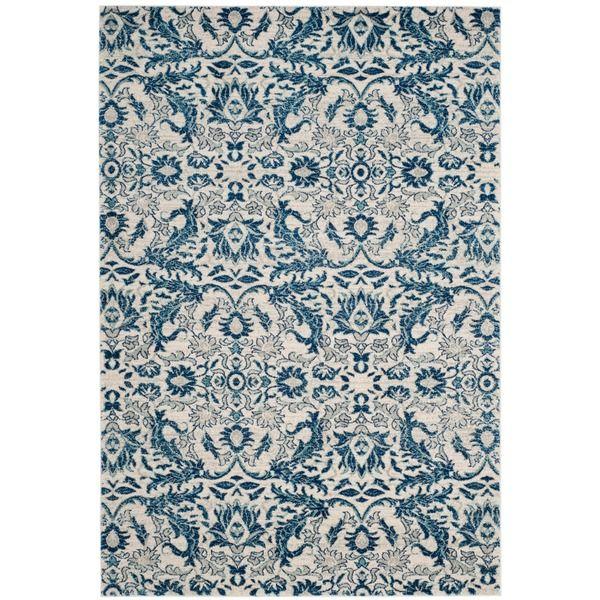 Safavieh Evoke Ivory/ Blue Rug (5'1 x 7'6) $105