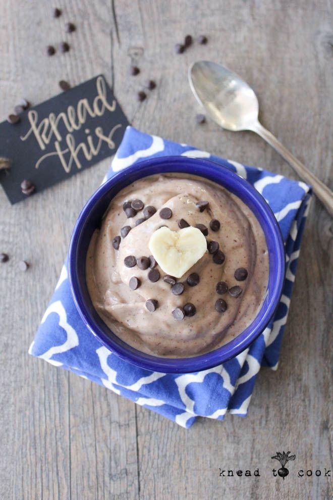 Chocolate PB Banana Protein Ice Cream. Vegan.