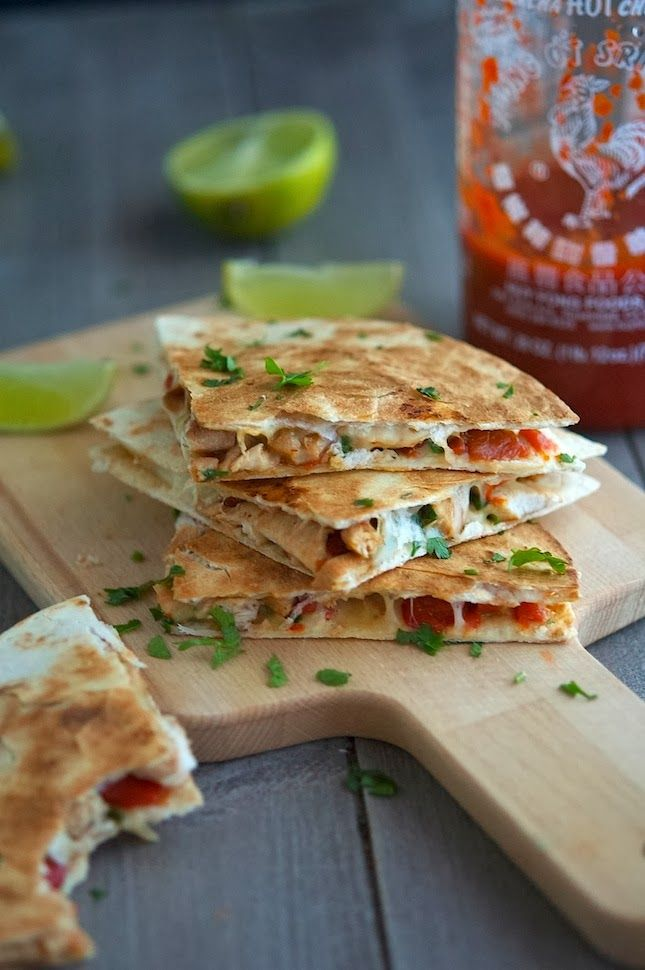 Key West Spicy Chicken Quesadillas: These ginger-sriracha chicken quesadillas are enjoyable cooked up in any kitchen. Whether it's a ski cabin, beachside shack or any place in between, these gooey little wedges are bound please your tastebuds anywhere and everywhere.