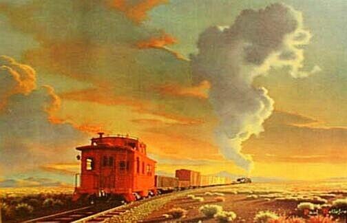 Sunset Train by Paul Detlefsen