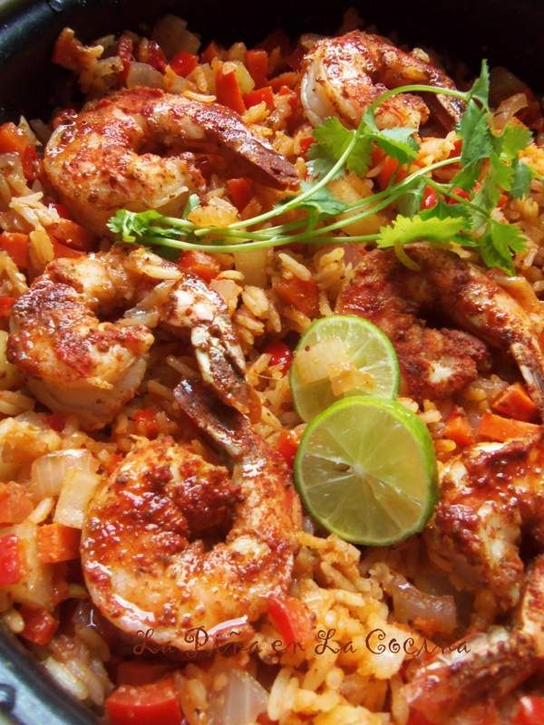 Arroz Con Camarones-Chile Limon Shrimp and Rice