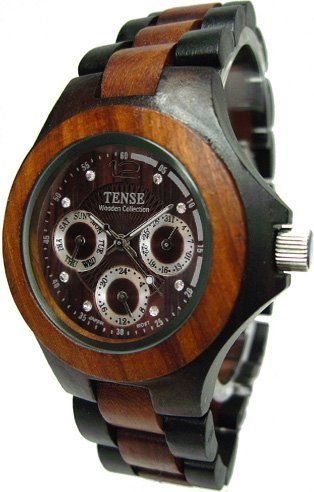 """Wood Watch $179-this is gorgeous. My work doesn't carry """"Tense"""" brand so I can't order it from them-not that Nicholas would wear a wood watch but it really is gorgeous."""