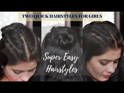 2 coiffures rapides pour l'école / collège / travail - YouTube - # travail # coiffures # école ...