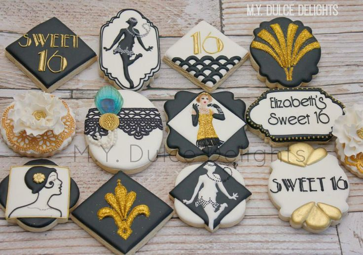 Gatsby sweet sixteen cookies | Cookie Connection