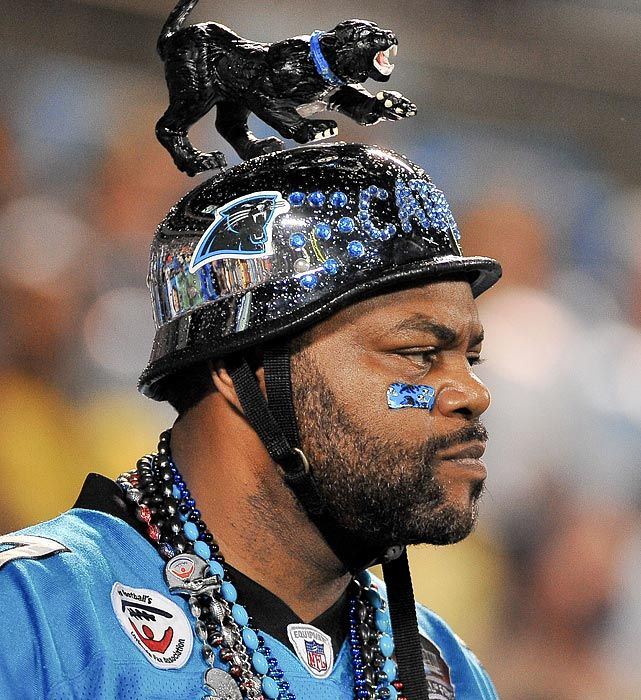 Carolina Panther Fan's Headgear