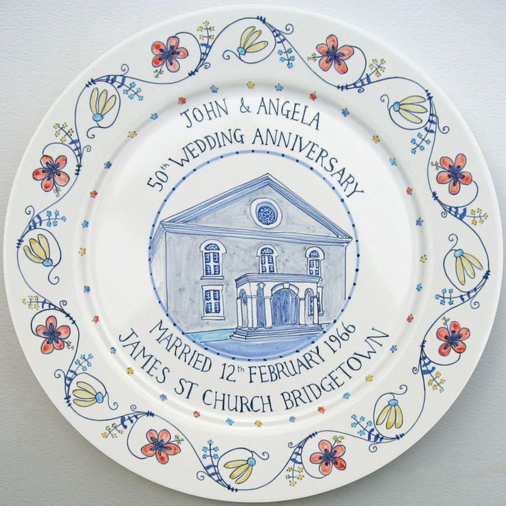 50th wedding anniversary plate. Paint Plates50th Wedding AnniversaryCeramic PotteryHand ...  sc 1 st  Pinterest & 65 best personalised hand painted plates images on Pinterest   Hand ...