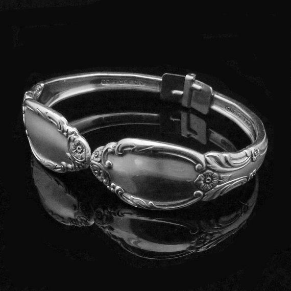 Handgemachte Silber Armband, Löffel Schmuck, Silberwaren Armband, Park Lane klein passend für 5-6-Zoll-Handgelenk