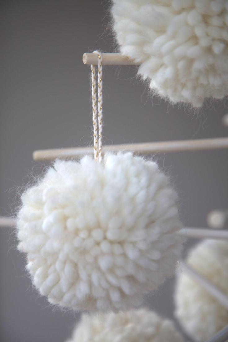 Christmas pom-pom, handmade in Sweden from Heart of Lovikka.