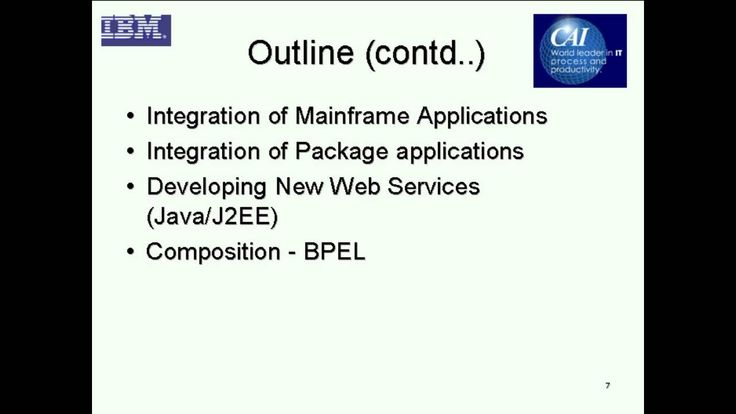 SOA-Based Enterprise Applications Integration http://www.itmpi.org/subscribe  In this webinar, Dr. Waseem Roshen reviews the evolution of SOA-based enterprise applications integration with a view towards understanding services-based integration in a step-by-step manner.   http://www.itmpi.org/subscribe