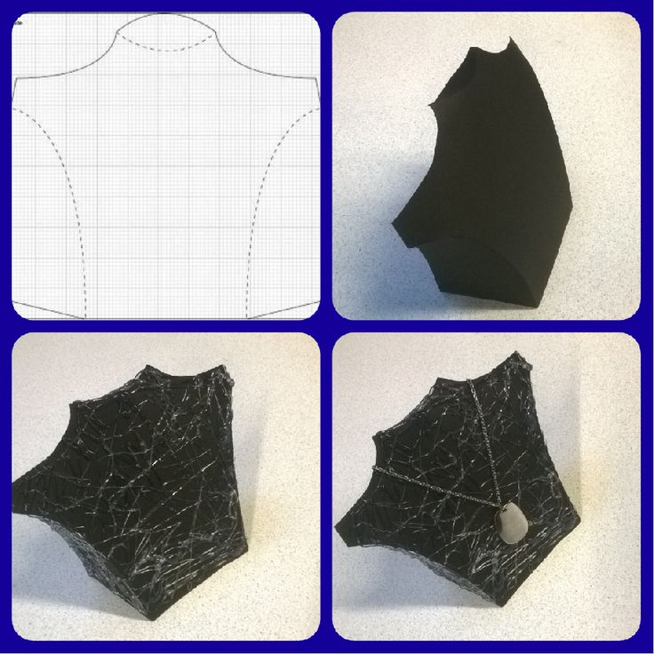 Borststuk om juwelen op te presenteren. Best op tekenpapier zoals hier zwart tekenpapier en met siliconen lijmpistool , kronkels op doen. Gebruik deze bij mijn presentatie van VICTORIA juwelen.