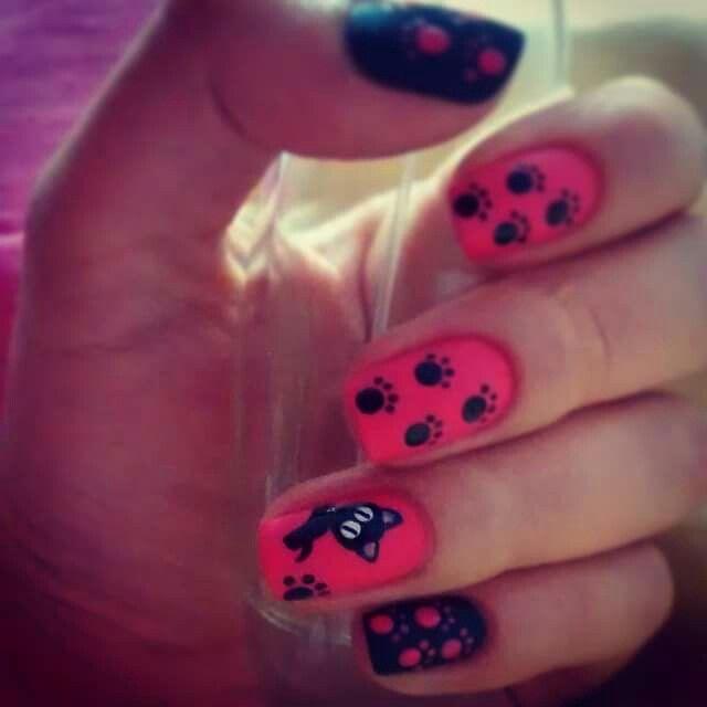 #Cat #miau #Nail #Nailart #Pink