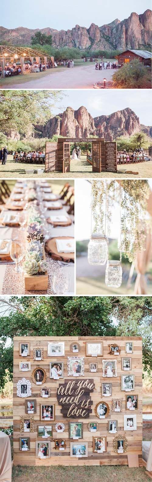 One of many gorgeous Wedding backdrops in Arizona