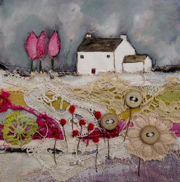 'May Cottage' by Louise O'Hara of DrawntoStitch www.drawntostitch.com