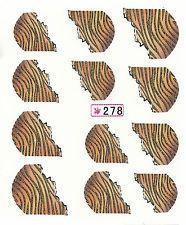 047 Nailart Nagelsticker 12 Aufkleber für Nägel Französisch Zebra Leopard