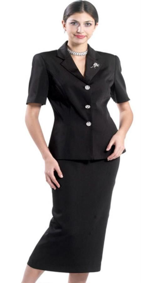 Lynda couture promotional ladies suits in black color.