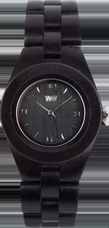 WeWOOD Odyssey watch (black) - Blackwood is a hardwood native to Tasmania's forests and is the perfect timber for delicate craftswork. It is easily worked, very stable and long lasting. Blackwood's durable seed remains viable for decades, making this delicate timber easy to grow, ensuring sustainability.