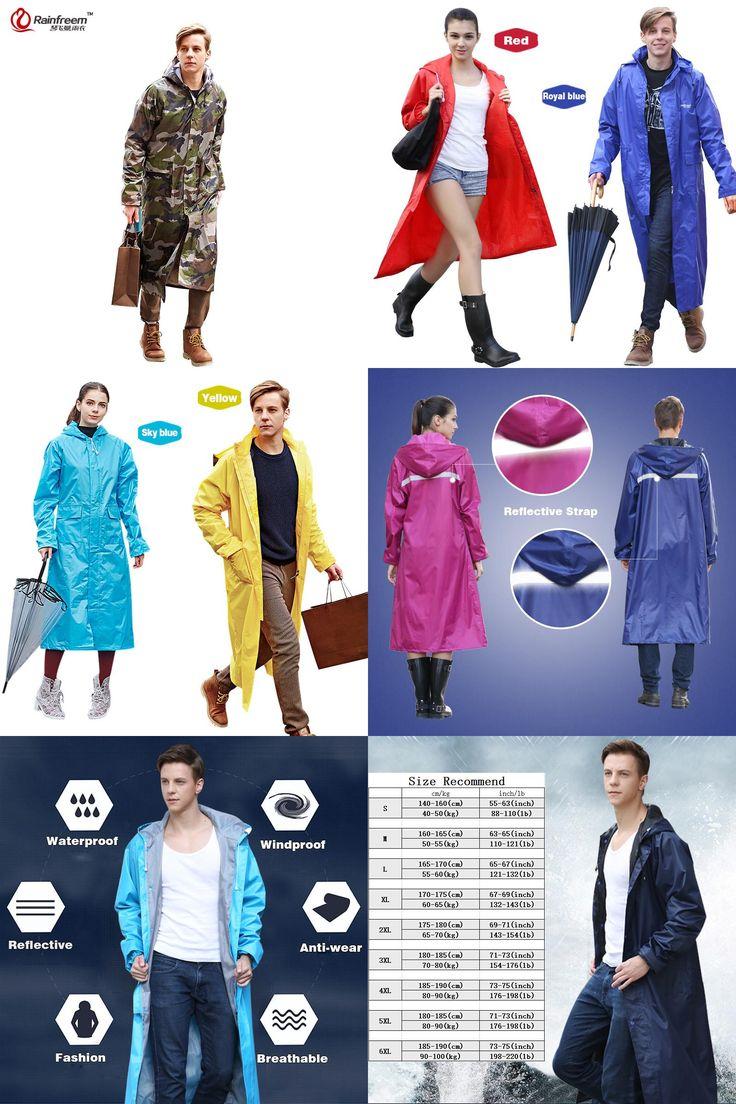 [Visit to Buy] Rainfreem Impermeable Raincoat Women/Men Waterproof Trench Coat Poncho Single-layer Rain Coat Women Rainwear Rain Gear Poncho #Advertisement