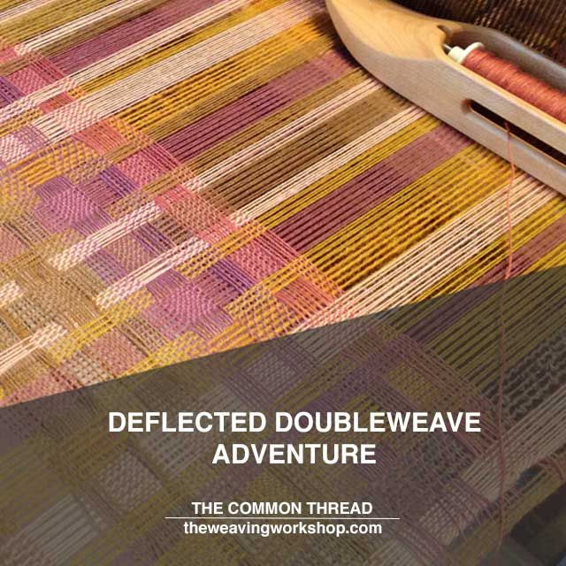 """[New Post] @teacatweaver shares her adventure in the classic deflected double weave pattern.    There is a lot to learn with weaving.  She says,""""One important tool in weaving that is always implied but not really called out is research.  We all do it, although we don't call it that or acknowledge that it is an important step in our craft."""" #theweavingworkshop #thecommonthread"""
