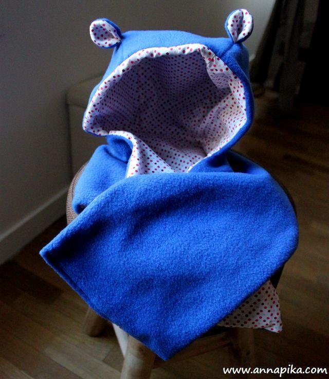 Bonnet ourson à oreilles pour bébé et enfant #DIY #couture #sew