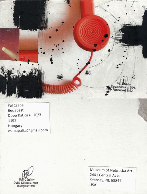 Mail art from Pál Csaba: Csaba Pal, Mail art, USA