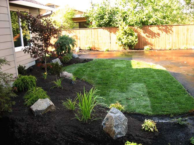 Easy landscaping ideas for front yard landscape photos Large backyard design ideas