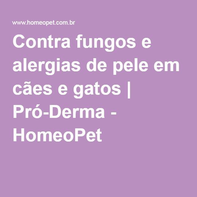 Contra fungos e alergias de pele em cães e gatos | Pró-Derma - HomeoPet