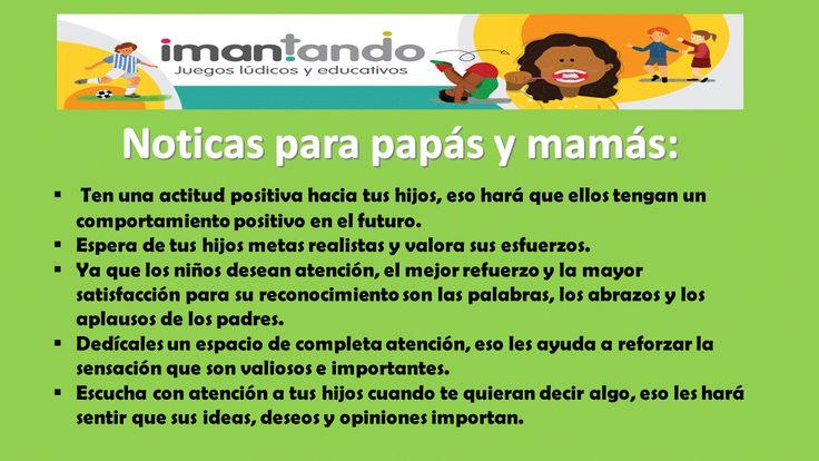 #noticasparapapaymama Tips para fortalecer el #autoestima de los niños