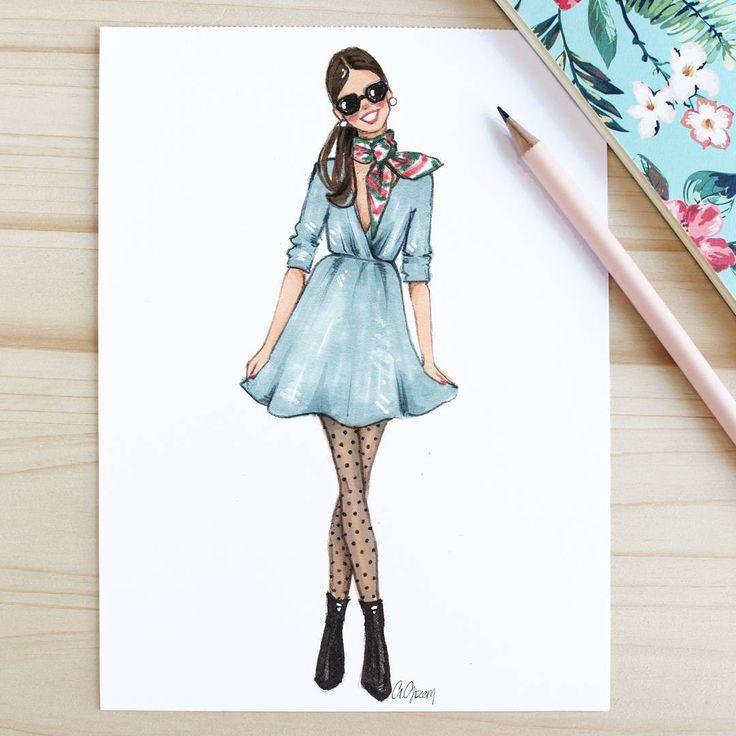 Style of Brush by Gizem Kazancigil #fashionillustration Mystery Kazancigil