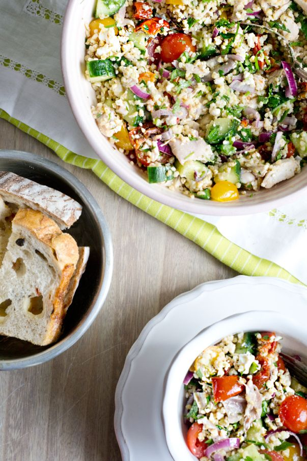 chicken and bulgur salad | salada de bulgur e frango