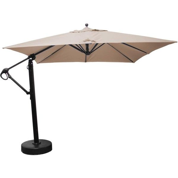 Galtech 10 X 10 Ft. Square Hardwood Patio Cantilever Umbrella W/ Easy...  ($1,359) ❤ Liked On Polyvore Featuring Home, Outdoors, Patio Umbrellas, ...