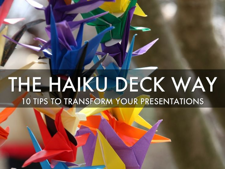An introduction to Haiku Deck and our philosophy that presentations should be  simple, beautiful, and fun. These ten tips will help you tell your story more effectively, no matter what presentation tool you are using.