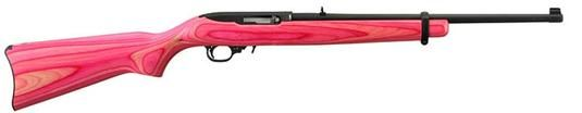 "Ruger 10/22 Semi Auto Rifle, Pink Laminate Stock, Blue W/18.5"" Barrel"