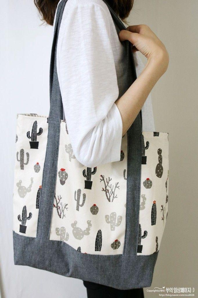 Tuto couture : réaliser un sac fourre-tout en suivant son pas à pas en photos , facile à coudre